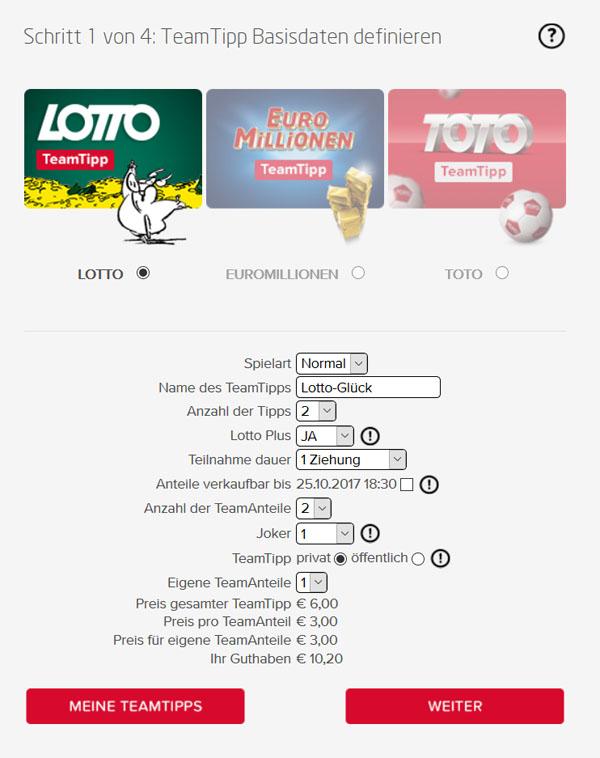 Preis Lottoschein